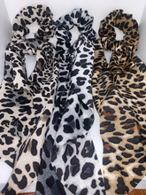 Load image into Gallery viewer, Leopard Scrunchie w/ Tails
