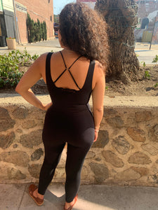 Full Black Bodysuit Romper