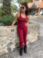 Load image into Gallery viewer, Full Burgundy Bodysuit Romper