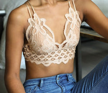 Load image into Gallery viewer, Flower Lace Bralette