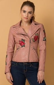 Rockin' Rose Vegan Leather Jacket