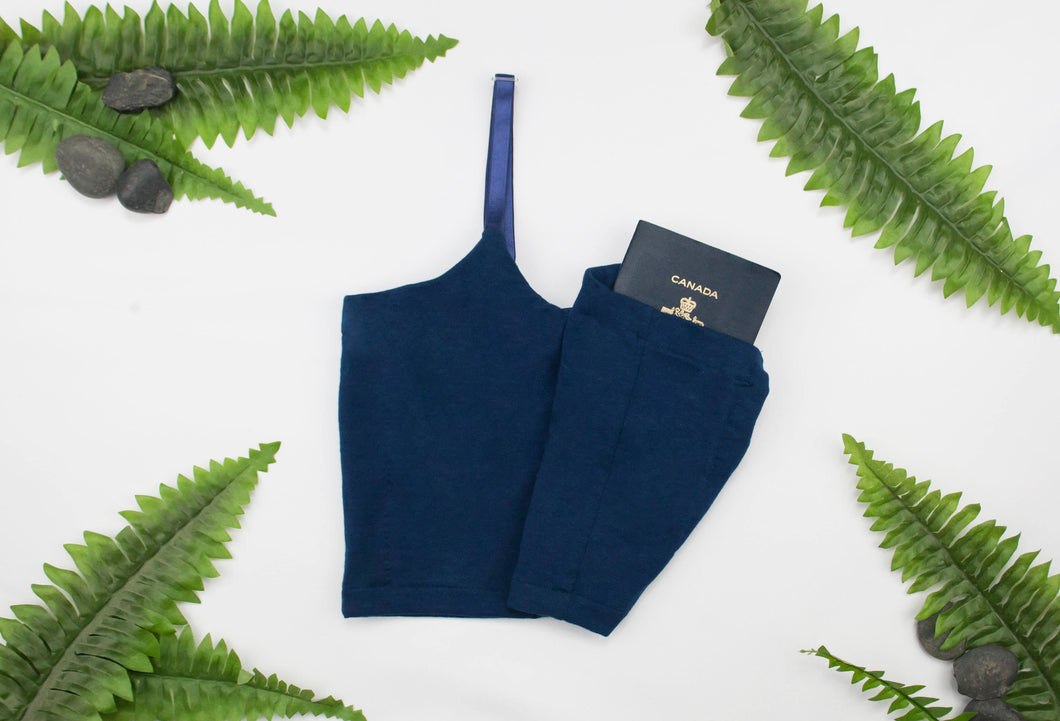 Bamboo Travel Bra - The Bra-Ket - Hidden Pockets