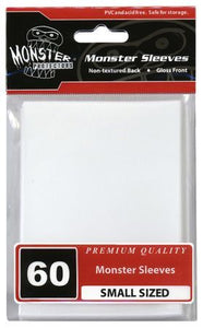 Monster Sleeves 60ct White (Small) - TCG Accessories