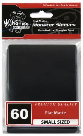 Monster Sleeves 60ct Black (Small) - TCG Accessories
