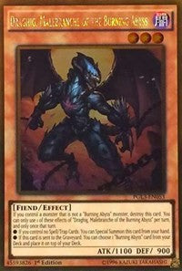 Draghig, Malebranche of the Burning Abyss - PGL3-EN053 - 1st Edition - Yugioh Single