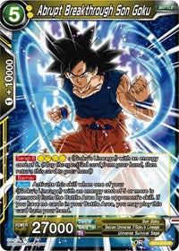 Abrupt Breakthrough Son Goku - BT4-076