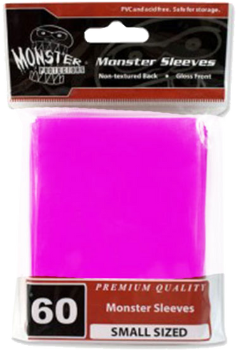 Monster Sleeves 60ct Pink (Small) - TCG Accessories