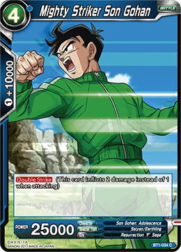 Mighty Striker Son Gohan - BT1-034