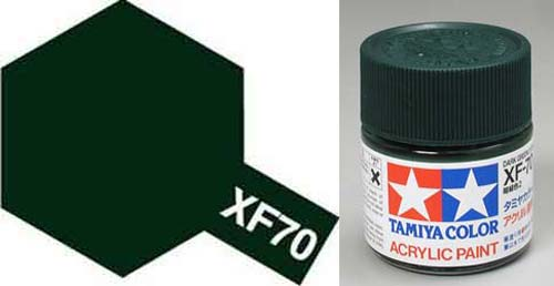 Paint Tamiya XF70 Dark Green 2 Acrylic (1/3 oz)