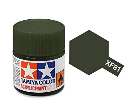 Paint Tamiya XF81 Dark Green 2 (RAF) Acrylic (1/3 oz)