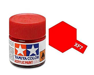 Paint Tamiya XF7 Flat Red Acrylic (1/3 oz)