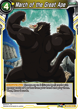 March of the Great Apes - BT3-106 FOIL VERSION