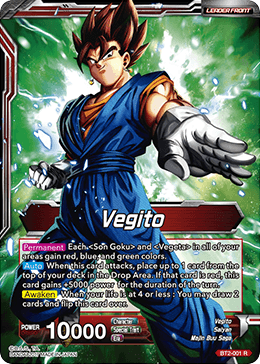 Vegito / Fusion Warrior Super Saiyan Vegito - BT2-001