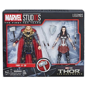 Marvel Studios 10 Years MCU Thor & Lady Sif Figure 2 Pack