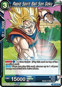 Rapid Spirit Ball Son Goku- SD1-04ST