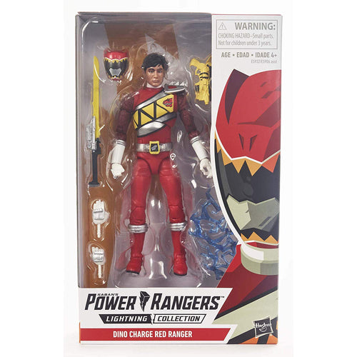 Lightning Collection Dino Charge Red Ranger Figure - Power Rangers Sealed
