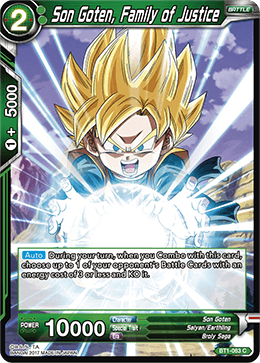 Son Goten Family Justice - BT1-063