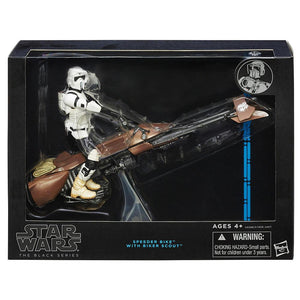 Star Wars Black Series Speeder Bike with Biker Scout Figure