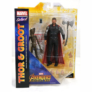 Marvel Select Thor & Groot (Infinity War) Figure