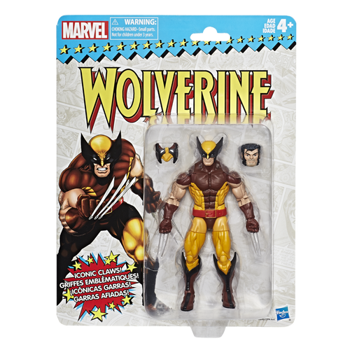 Marvel Legends Retro Card Back Wolverine Figure