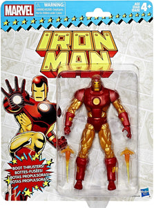 Marvel Legends Retro Card Back Iron Man Figure
