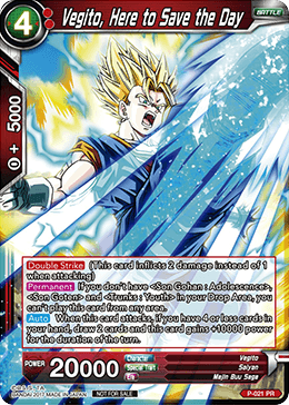 Vegito Here to Save the Day - P-021 PROMO