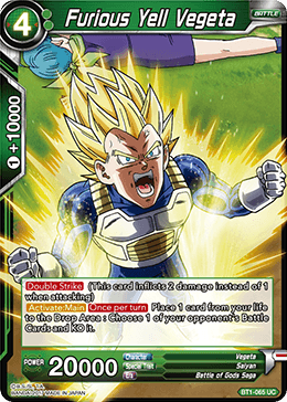 Furious Yell Vegeta - BT1-065