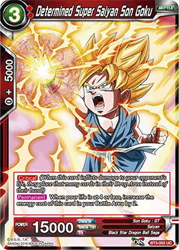 Determined Super Saiyan Son Goku - BT3-005