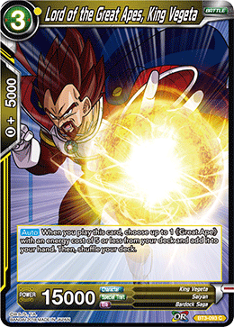 Lord of the Great Apes King Vegeta - BT3-093 FOIL VERSION