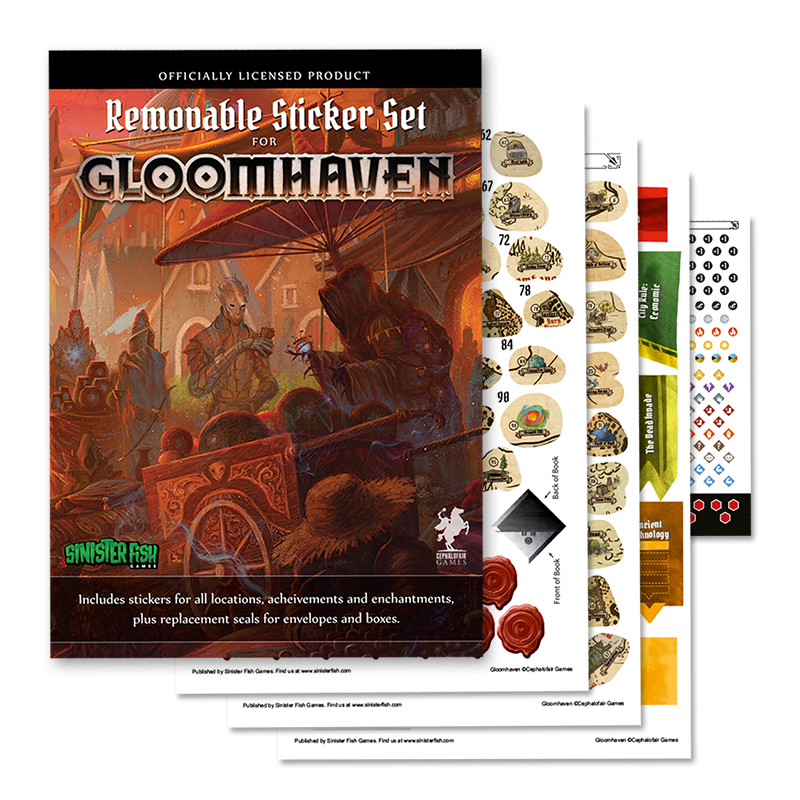 Gloomhaven Board Game Removable Sticker Set