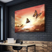 Wandbild für Büro & Home-Office GIVE YOURSELFE TIME von DotComCanvas