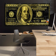 Wandbild für Büro & Home-Office GOLDEN DOLLAR von DotComCanvas