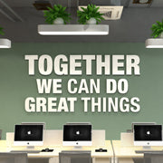 Wandzitat für Büro & Home-Office TOGHETER WE CAN DO GREAT THINGS von DotComCanvas