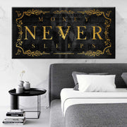 Wandbild für Büro & Home-Office MONEY NEVER SLEEPS Part 2 von DotComCanvas