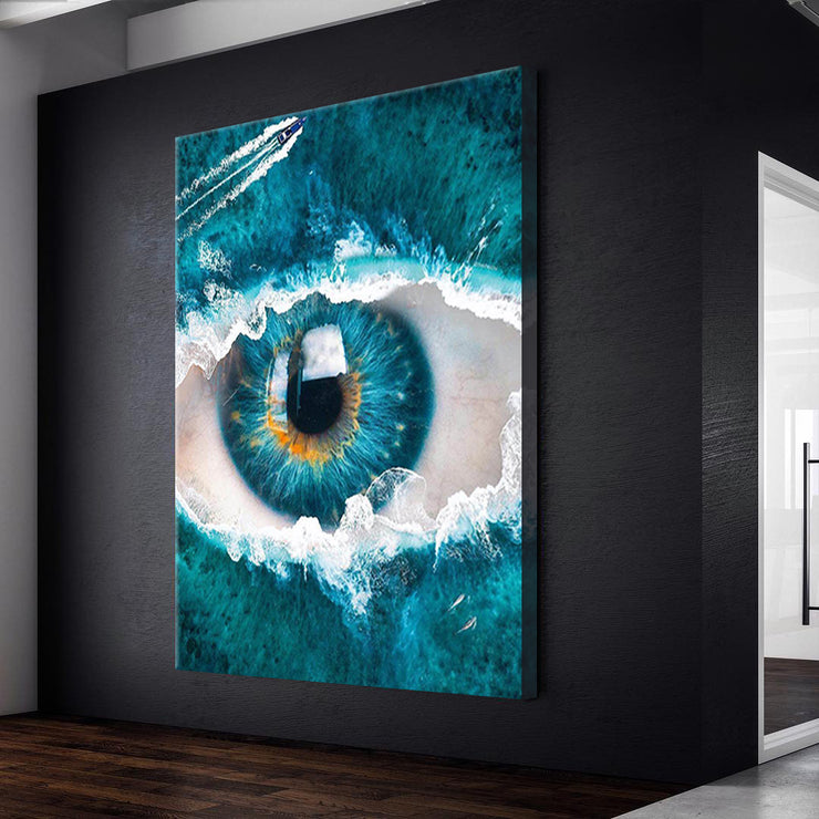 Prints für Büro & Home-Office EYE OF THE SEA von DotComCanvas