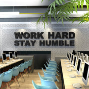 Wandzitat für Büro & Home-Office WORK HARD STAY HUMBLE von DotComCanvas