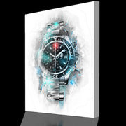 Wandbild für Büro & Home-Office GRAPHIT PAINTING WATCH von DotComCanvas