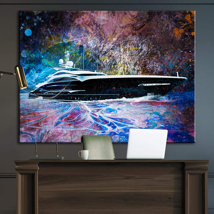 Wandbild für Büro & Home-Office PRIVATE YACHT von DotComCanvas