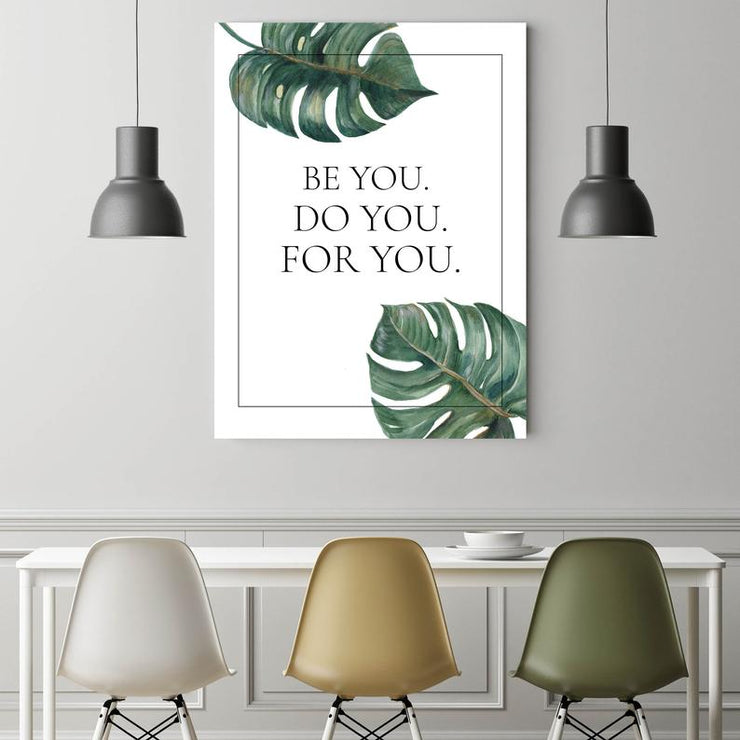 Wandbild für Büro & Home-Office BE YOU. von DotComCanvas