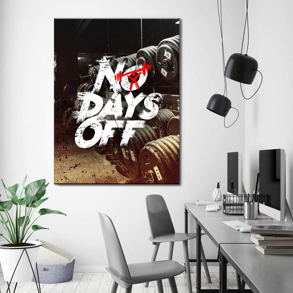 Wandbild für Büro & Home-Office NO DAYS OFF von DotComCanvas