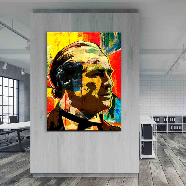 Wandbild für Büro & Home-Office THE GODFATHER von DotComCanvas
