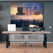 Wandbild für Büro & Home-Office LIVE LIKE THEY DREAM von DotComCanvas
