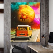 Wandbild für Büro & Home-Office BITCOIN ROADTRIP von DotComCanvas