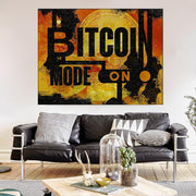 Wandbild für Büro & Home-Office BITCOIN MODE ON von DotComCanvas