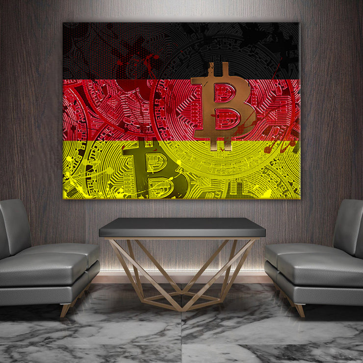 Wandbild für Büro & Home-Office CRYPTO FLAG GERMANY von DotComCanvas