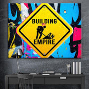 Wandbild für Büro & Home-Office BUILDING MY EMPIRE von DotComCanvas