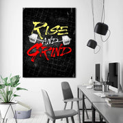 Wandbild für Büro & Home-Office RISE AND GRIND von DotComCanvas