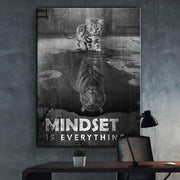 Wandbild für Büro & Home-Office MINDSET IS EVERYTHING #TIGER von DotComCanvas