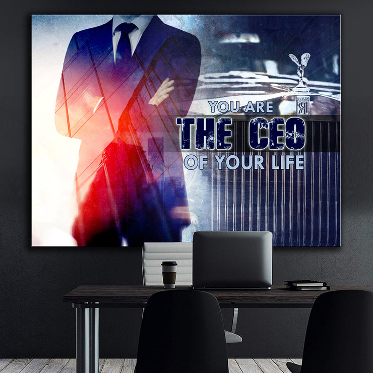 Wandbild für Büro & Home-Office YOU ARE THE CEO OF YOUR LIFE von DotComCanvas