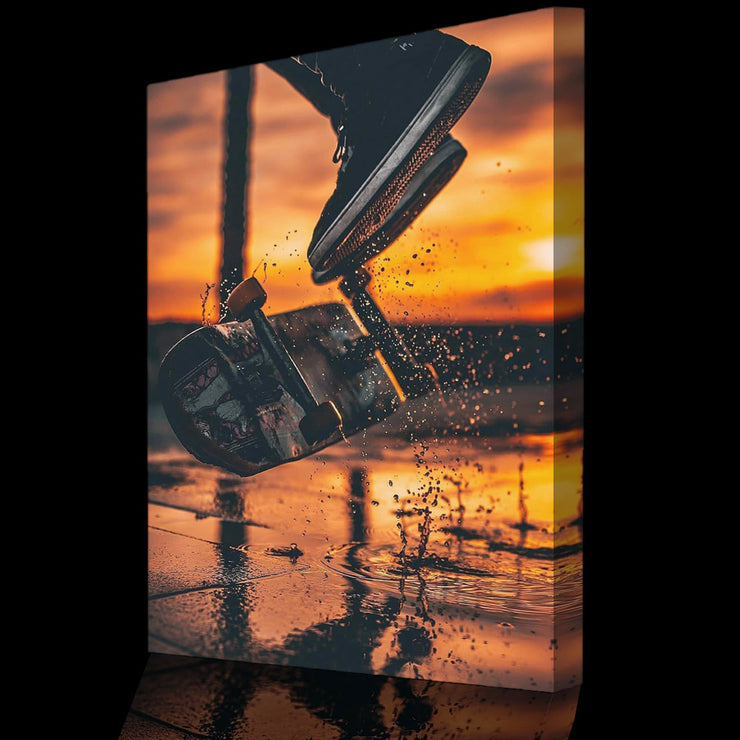 Prints für Büro & Home-Office SUNSET SKATEBOARD von DotComCanvas